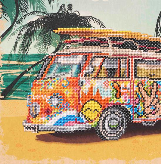 "Diamond Art Kit 12""x 12"" Sparkle Intermediate VW Bus"