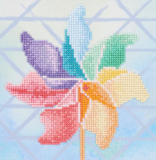 "Diamond Art Kit 8""x 8"" Sparkle Beginner Pinwheel"