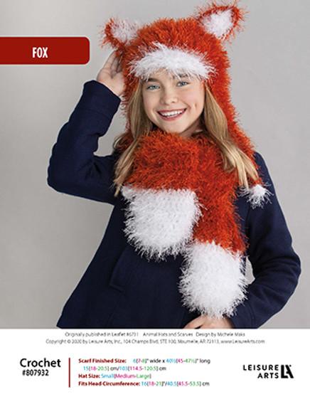 ePattern Fox Crochet Hat