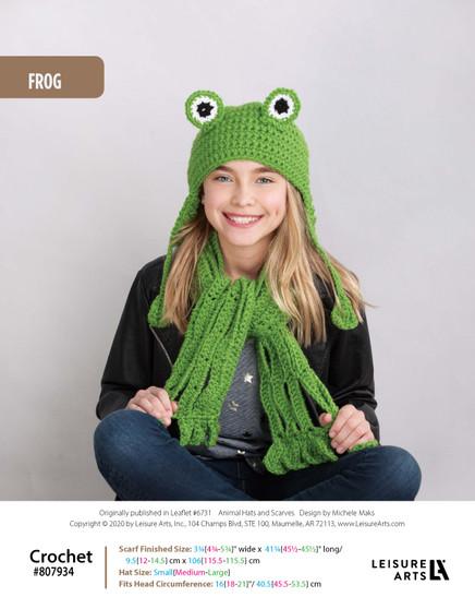 ePattern Frog Crochet Hat