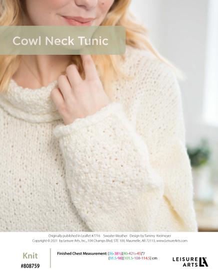 ePattern Cowl Neck Sweater