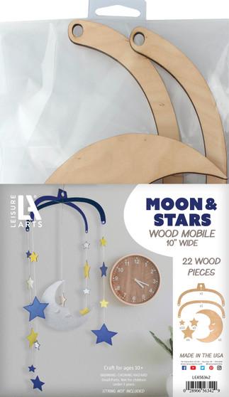 Leisure Arts Wood Mobile Moon & Stars