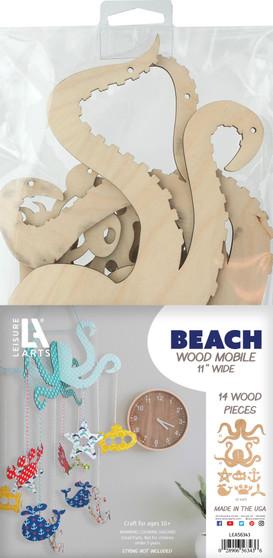 Leisure Arts Wood Mobile Beach