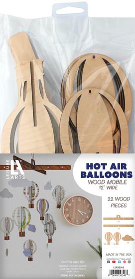 Leisure Arts Wood Mobile Hot Air Balloon