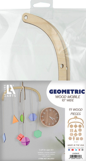 Leisure Arts Wood Mobile Geometric
