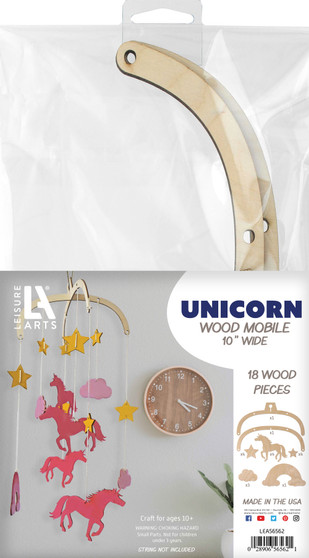 Leisure Arts Wood Mobiles Unicorn