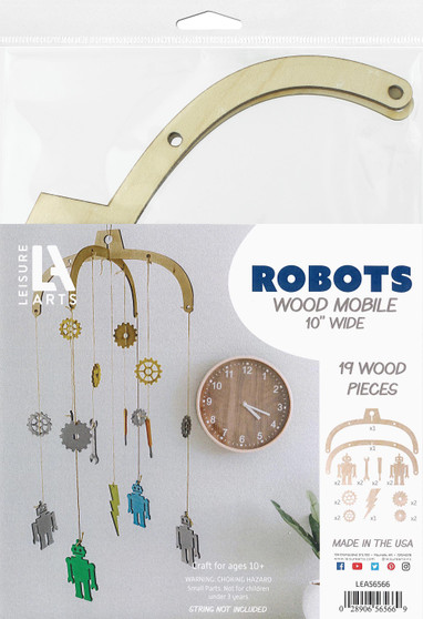 Leisure Arts Wood Mobiles Robot