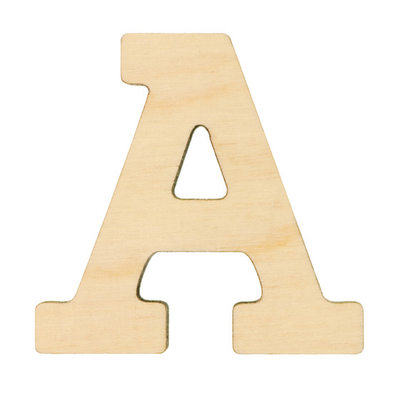 """Essentials By Leisure Arts Wood Letter 1.75"""" Birch A"""