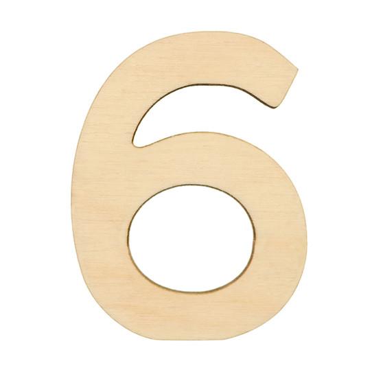 """Essentials By Leisure Arts Wood Letter 1.75"""" Birch No 6"""