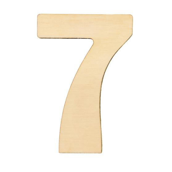 """Essentials By Leisure Arts Wood Letter 1.75"""" Birch No 7"""