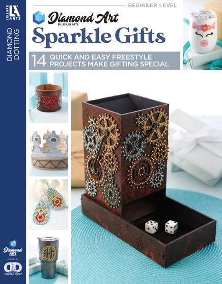Diamond Art By Leisure Arts Freestyle Diamond Dotting Sparkle Gifts Book