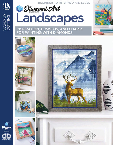 Diamond Art By Leisure Arts Freestyle Diamond Dotting Landscapes Painting Charts & Idea Book