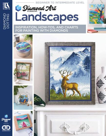 eBook Diamond Art By Leisure Arts Freestyle Diamond Dotting Landscapes Painting Charts & Idea