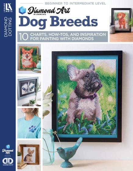 eBook Diamond Art By Leisure Arts Freestyle Diamond Dotting Dog Breeds Painting Charts & Idea