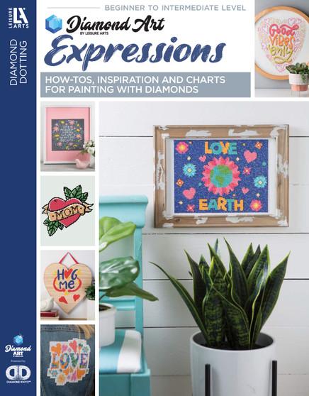 Diamond Art By Leisure Arts Freestyle Diamond Dotting Expressions Painting Charts & Idea Book
