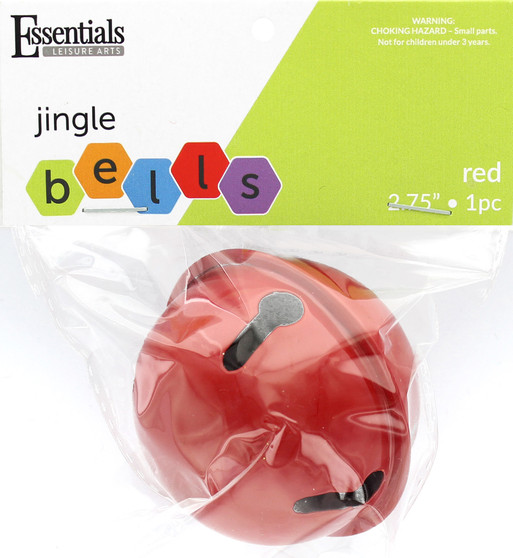 """Essentials By Leisure Arts Bell Jingle 2.56"""" Red 1pc"""