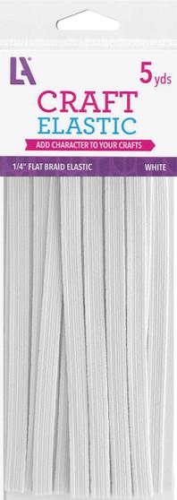 """EBL Elastic Flat Braid Pkg 1/4""""x5yd W"""