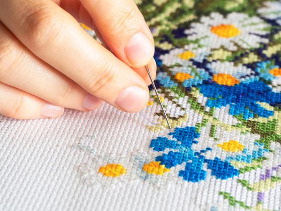 "Essentials By Leisure Arts Aida Cloth Cloth 14ct 30x36"" Light Blue"
