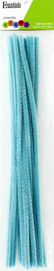 "Essentials By Leisure Arts Chenille 12"" Stem 6mm Light Ice Blue 25pc"