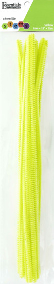 """Essentials By Leisure Arts Chenille 12"""" Stem 6mm Yellow 25pc"""