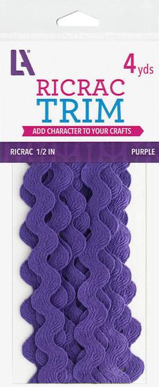 "EBL Ric Rac 1/2"" 4yd Purple"