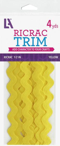 "EBL Ric Rac 1/2"" 4yd Yellow"