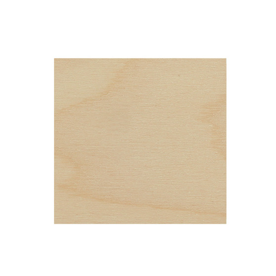 Essentials By Leisure Arts Wood Flat Shape Square 24pc