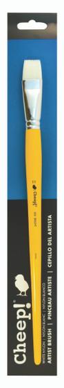 Cheep Brush White Nylon Long Handle Bright #11