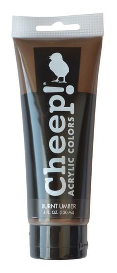 Cheep! Acrylic Paint 4oz Tube Burnt Umber
