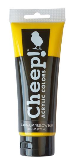 Cheep! Acrylic Paint 4oz Tube Cadmium Yellow Hue