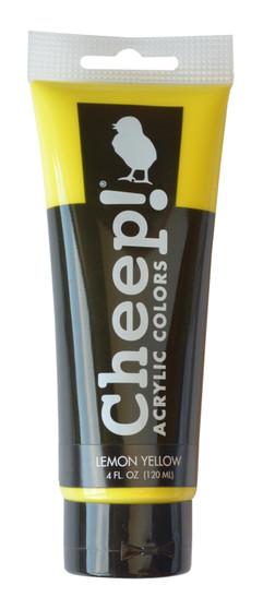 Cheep! Acrylic Paint 4oz Tube Lemon Yellow