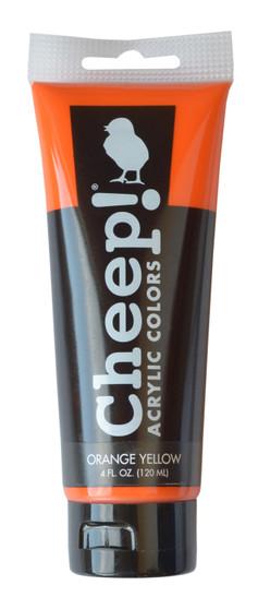Cheep! Acrylic Paint 4oz Tube Orange Yellow