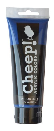 Cheep! Acrylic Paint 4oz Tube Phthalo Blue