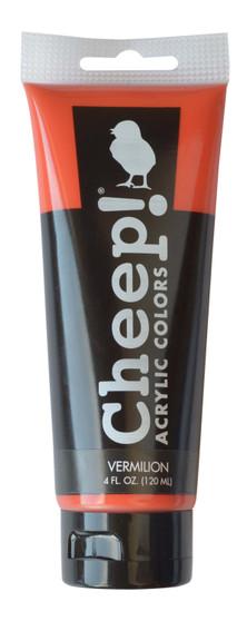 Cheep! Acrylic Paint 4oz Tube Vermilion