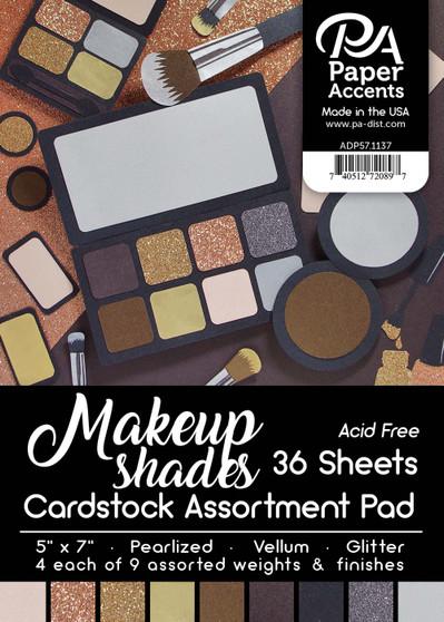 "Paper Accents Cardstock Pad 5""x 7"" Makeup Shades Assortment 36pc"
