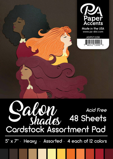 "Paper Accents Cardstock Pad 5""x 7"" Salon Shades Assortment 48pc"