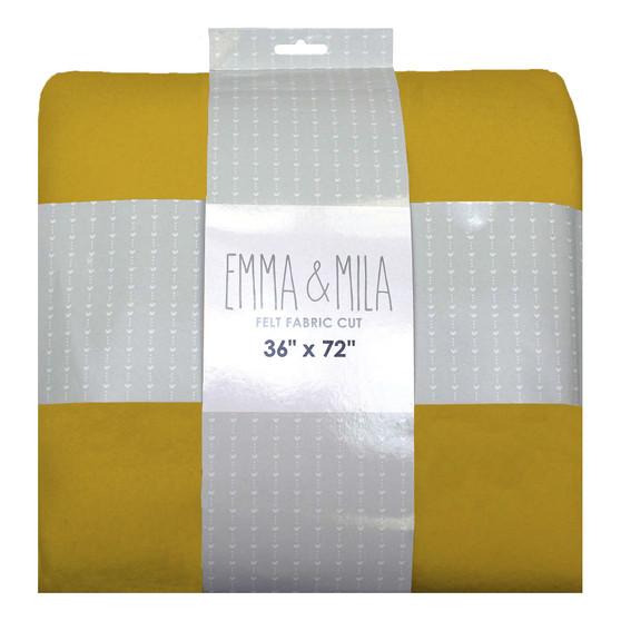 "Felt Yellow 2 pack of 54""x72"""
