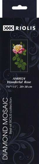"""Riolis Diamond Mosaic Kit 7.75""""x 15"""" Wonderful Rose"""