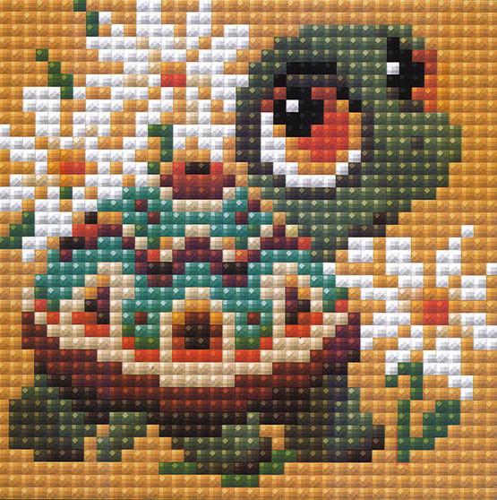 "Riolis Diamond Mosaic Kit 4""x 4"" Turtle"