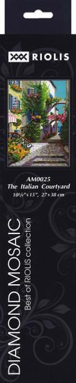 "Riolis Diamond Mosaic Kit 10.75""x 15"" The Italian Courtyard"