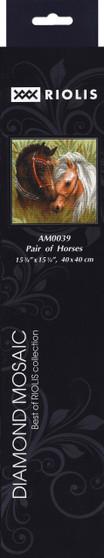 "Riolis Diamond Mosaic Kit 15.75""x 15.75"" Pair Horses"