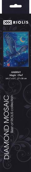 "Riolis Diamond Mosaic Kit 10.75""x 15"" Magic Owl"