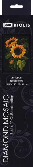 """Riolis Diamond Mosaic Kit 10.75""""x 15"""" Sunflowers"""