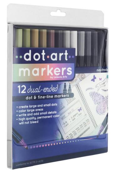 Leisure Arts Dot Marker 12pc Neutral