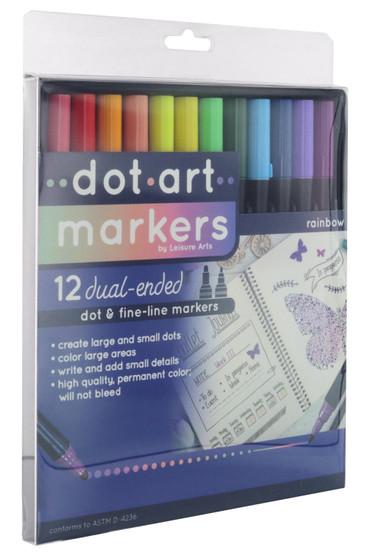 Leisure Arts Dot Marker 12pc Rainbow