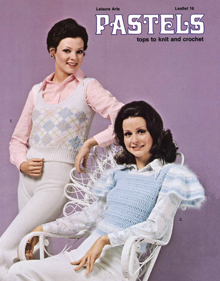 Leisure Arts Pastels Tops To Knit And Crochet - Digital Pattern
