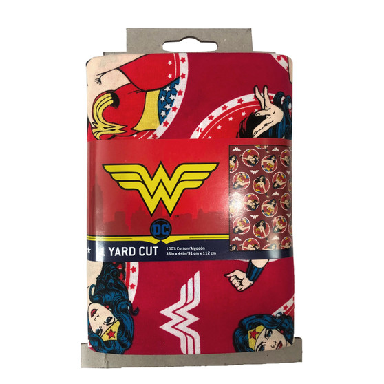 DC Comics Precut Yard Wonder Woman Circles 4pc