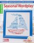 Leisure Arts Seasonal Wordplay Cross Stitch Book