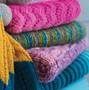 Leisure Arts Make Your First Knit Baby Afghan Book