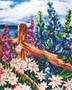 "Diamond Art Kit 16""x 20"" Sparkle Advanced Seaside Garden"